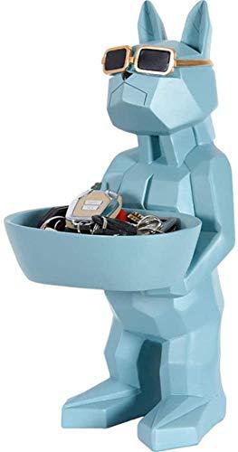 JLXQL Estatuas Caja de Almacenamiento con Forma de Perro - Escultura Artesanal - Decoración de Escritorio - Caja de Almacenamiento