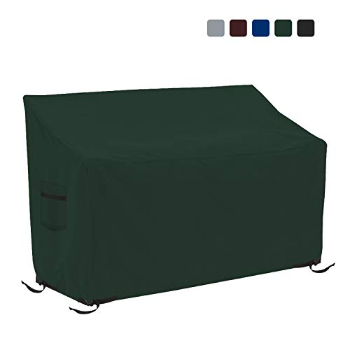 Patio Bench Cover - Waterproof, Air Vents, 100% UV-Resistant, 18 Oz 1000 D PVC Coated, Outdoor Furniture Bench Covers with Air Pockets & Drawstring for Snug fit (75\
