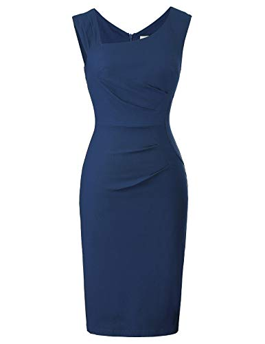 Belle Poque elegant Damenkleider etuikleid Bodycon Kleid Retro schwarz bleistiftkleid Größe XL BP302-6
