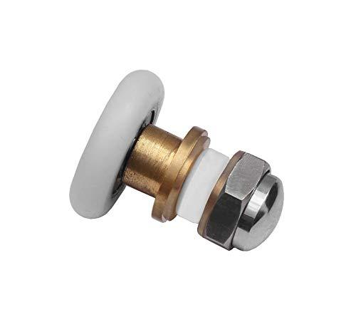 Laufrolle Duschtüre Glastüre Rollwagen Schiebetürbeschlag Schiebetür Rolle 30-02 Durchmesser 28,0mm