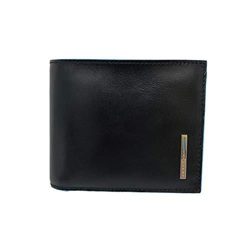 Portafoglio Piquadro uomo con porta documenti, porta monete, porta carte di credito e anti-frode RFID colore nero - PU5185B2RN