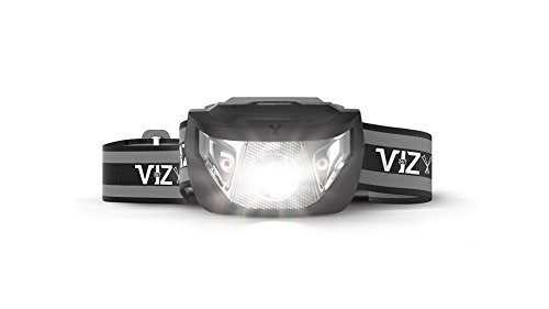 247 Viz LED Headlamp Flashlight - See The Road and Stay Safe - 5 Modes, 3 Bright White & 2 Red Lights, Lightweight & Waterproof : Running, Hiking, Camping, Dog Walking & Night Safety for Kids (Black)