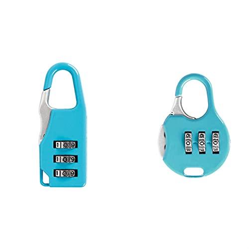 HKLY Candados 2 Mini CONTRASEÑA Digital RESENTABLE DE Seguridad DE Seguridad DE Seguridad DE LA Combustible Smart Cerrado DE LA Completa DE LA MINDCASA DE LA MALURACIÓN (Color : Blue Set)