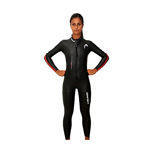 Head Swimrun Base Lady Wetsuit 4.2.2 - Traje de Buceo para Mujer, Color Negro, Talla L