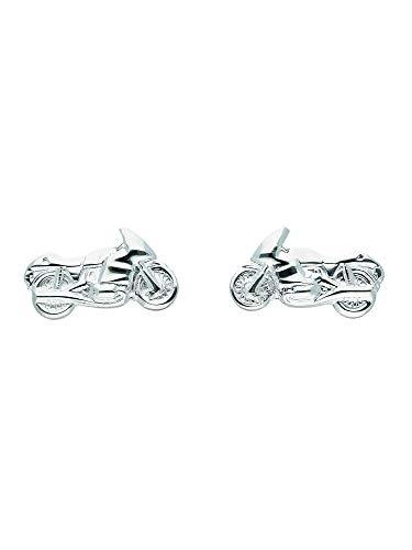 1 Paar Silber Ohrringe Ohrstecker Motorrad 925 Sterling Silber