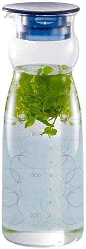 GAOYINMEI Tetera Tetera de Cristal Copa Recipiente con Hielo Vaso de Agua fácil de Limpiar fácil de Verter Ideal for la Leche y el café Helado de té Botellas de Zumo de Restaurante