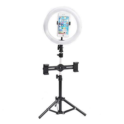 HXiaDyG Ring Licht 3 Telefoon Clip 8 Inch Video Fotografie Live Streaming Ring Licht met 50cm Licht Stand Led Ring Licht