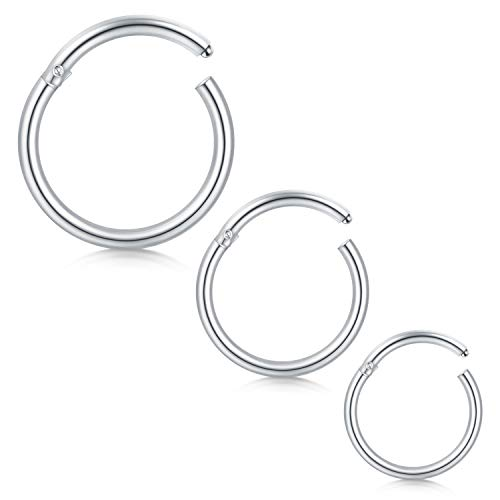 14G 10-14mm Cartilage Hoop Earrings for Men Women Nose Hoop Ring Helix Septum Couch Daith Lip Tragus Piercing Jewellery