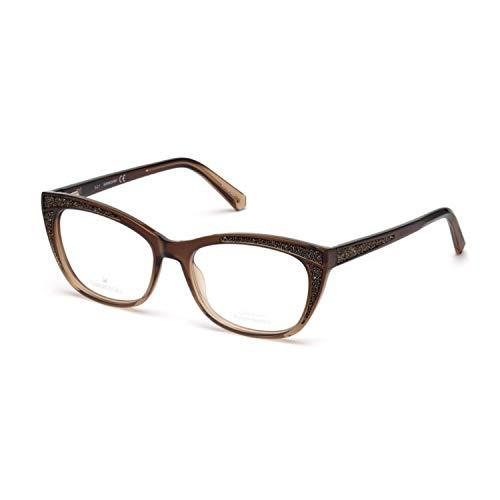 Swarovski Occhiale da Vista SK5273 047 marrone montatura plastica taglia 53 mm occhiale donna