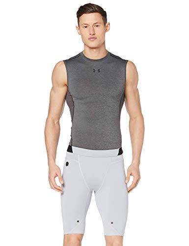 Under Armour UA Rush Comp Short Pantalón Corto, Hombre, Gris (Mod Gray/Black 011), M