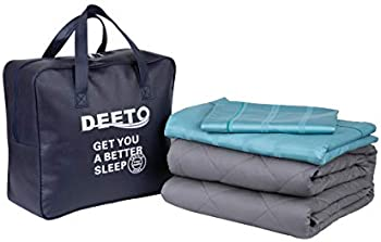Deeto Adult Weighted Blanket & Removable Duvet