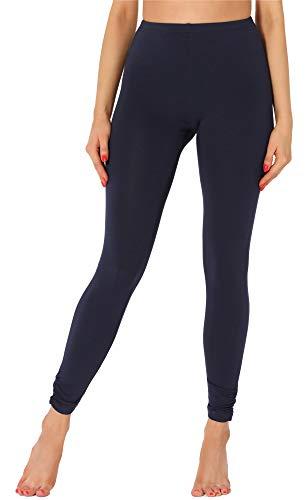 Merry Style Leggins Largos Mallas Deportivas Mujer MS10-345 (Azul Marino, L)
