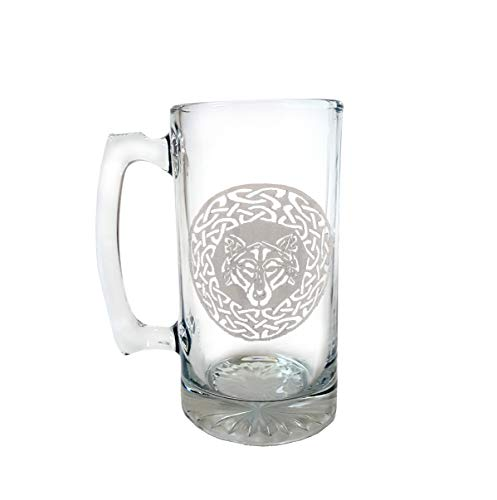 Celtic Wolf 27oz Stein- Free Personalized Engraving
