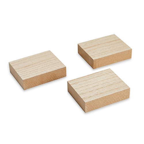 Juvale Wooden Blocks for Crafts, Wood Rectangle (3.88 x 3.1)