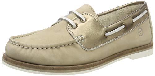 Tamaris Damen 1-1-23616-22 489 Sneaker, Beige (BEIGE/DK.GOLD 489), 37 EU