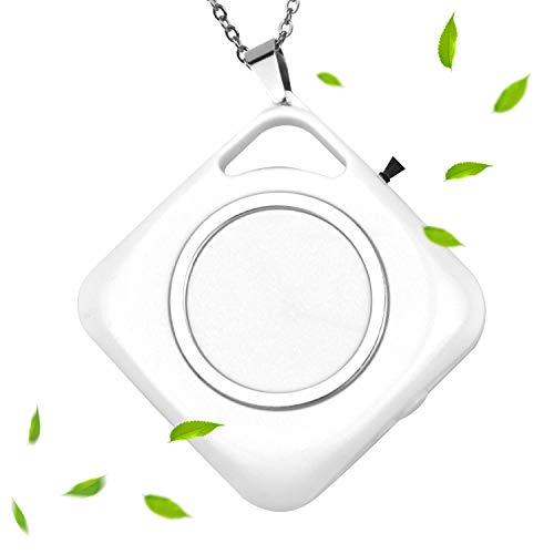 100FIXEO air purifier necklace portable air purifier personal air purifier around the neck ionizer air purifier ozone mini air purifier (White)