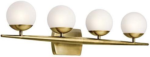 discount Kichler 45583NBR Four Light high quality Wall high quality Bath, 4, Natural Brass online