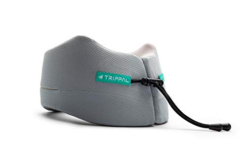 OFADD TripPal Travel Pillow Neck Pillow 100% Memory Foam Comfortable & Breathable, Machine Washable for Flight, Car or Sofa with All-Rounded Neck, Head and Chin Support