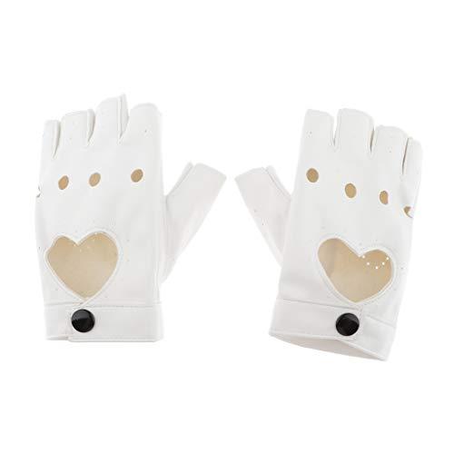 sharprepublic Fingerlos Lederhandschuhe Damen Autofahrer Motorrad Handschuhe Fahrhandschuhe Sporthandschuhe - Beige