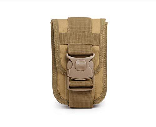 Kinhevao – Bolsa de deporte Molle Vintage, utilidad de bolso, cintura pequeña, bolsa de transporte, bolsa de deporte para exterior, gadget bolsa universal cinturón funda para teléfono móvil Holster Soporte Travel P, marrón