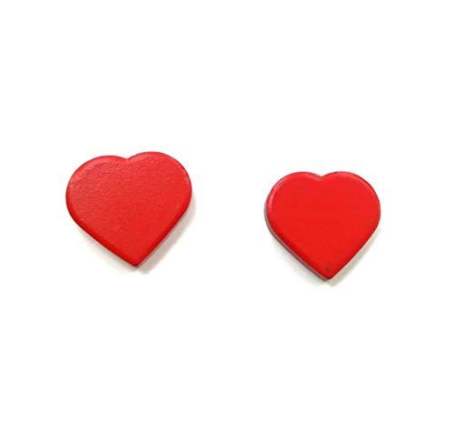 takestop® magneet hart set 4 stuks 3 x 2,5 cm MAGNETE CUORICINO hartjes liefde FERMA kaart FAI