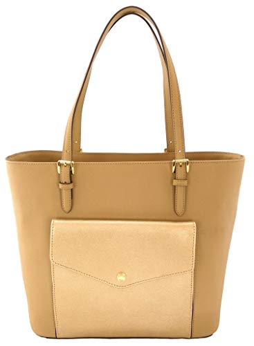 Michael Kors Jet Set Item Large Pocket MF Tote (Dark Camel/Pale Gold)