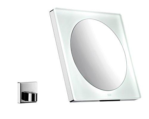 Emco 109600112 LED Akku Kosmetikspiegel eckig, Chrom