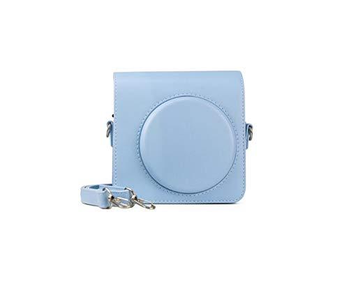 JXE - Custodia protettiva per fotocamera a tracolla, in poliuretano, compatibile con fotocamera istantanea Instax Square SQ1, colore: Blu