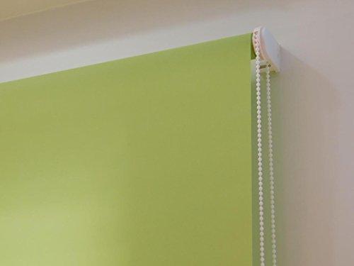 Estor Enrollable a Medida TRASLÚCIDO Basic (no Permite Ver el Exterior, Permite Paso de luz). Color Verde. Medida 170cm x 175cm.