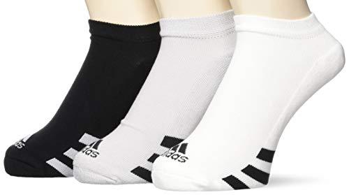 adidas M 3pck noshow Calcetines deportivos, Negro (Negro/Gris/Blanco Dm6092), One Size (Tamaño del fabricante:6912) para Hombre