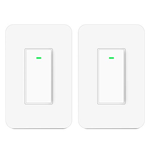 Smart 3 Way Switch Wireless 3-Way Wifi Light Switch Work with Alexa and Google Home [2Pack]