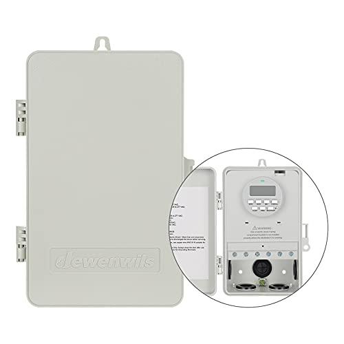 DEWENWILS Outdoor Heavy Duty Waterproof Timer Box Digital, 2HP 40A...