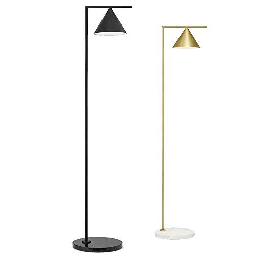 5151BuyWorld Lamp vloer, eenvoudig, modern, licht corpus van metaal, zwart, goudkleurig, tafellamp, basis van marmer, creatieve lamp, verstelbare lamp, lampenkap, Homeco kwaliteit