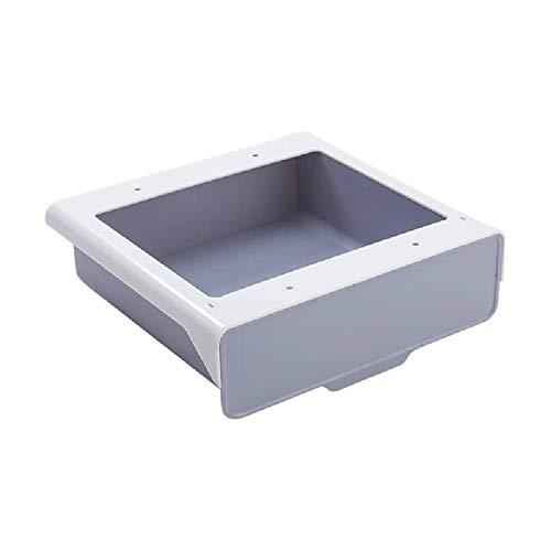 N\C Caja de Almacenamiento Tipo cajón Oculto Debajo del Escritorio Gabinete Pegado Caja de cajón Colgante Debajo de la Mesa