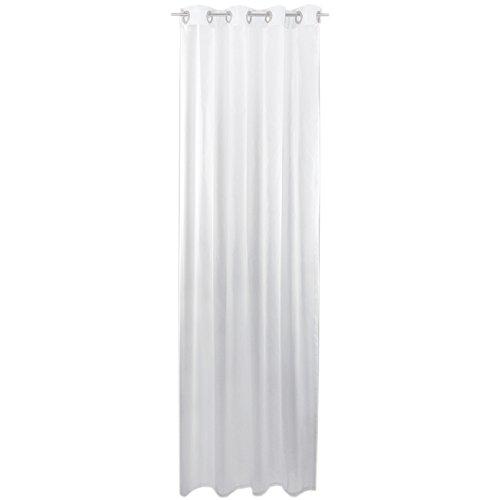Bestlivings, tenda decorativa trasparente, 140 x 245 cm (larghezza x altezza), con passanti, in voile. Accessori per la casa eleganti e ricchi di stile  weiß - reinweiß 140 x 245cm