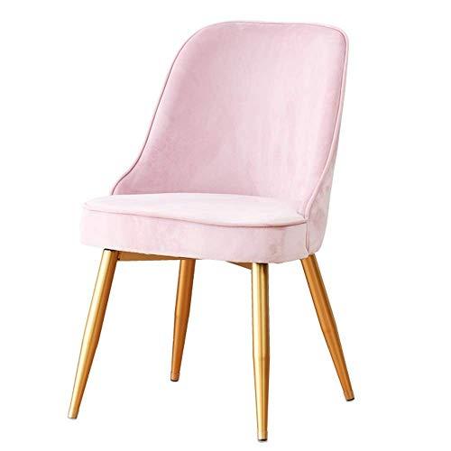 WSDSX Stuhl Modernes Design Esszimmerstühle Samtsitz Metallbein Für Office Lounge Küchenrestaurant (Farbe: Pink)