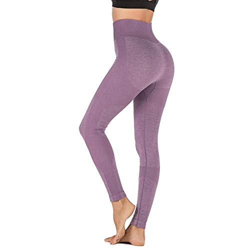 LBBL Yoga Pant, Women Gym Seamless Energy Leggings Butt Lift Compression Sport Leggings High Waisted Yoga Pants Tummy Control Tights Leggings (Color : A, Size : Small)