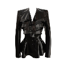 Bespoke Shop   Shop Atsuko Kudo Latex Crystal Suit Jacket