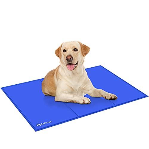 Mbuynow Alfombrilla para Perros, Alfombrilla de refrigeración automática para Mascotas, Gel no tóxico, para Personas Adultas, sofás de Verano, Accesorios para colchón (XXL - 75 x 120 cm)