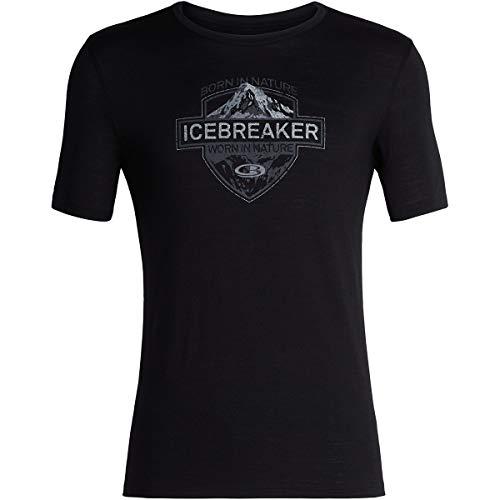 Icebreaker 104312 T-Shirt Homme Noir FR : S (Taille Fabricant : S)