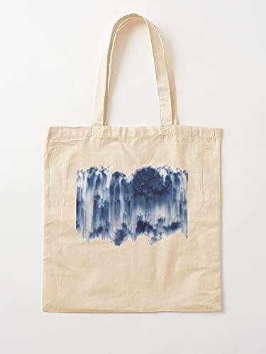 Générique Basic Blue White Top | Einkaufstaschen aus Segeltuch, Einkaufstaschen mit Griffen, aus langlebiger Baumwolle