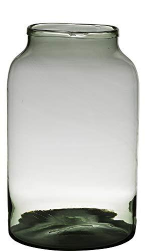 Vaas H34 D22 Handgemaakt Recycled Glas Milky