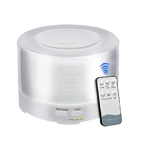 VORCOOL Humidificador ultrasónico del Aroma del Aire del Control Remoto 700ml con 7 Luces LED del Color Difusor aromático del Aroma del Aceite Esencial de la aromaterapia (Enchufe de la UE)