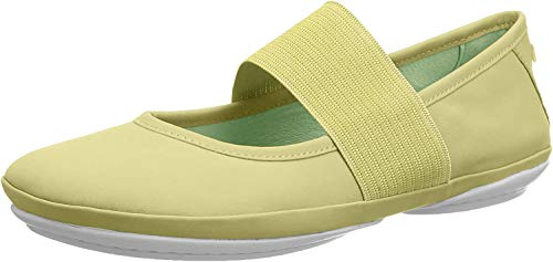 CAMPER Damen Right Nina Mary Jane Halbschuhe, Gelb (Lt/Pastel Yellow 740), 36 EU