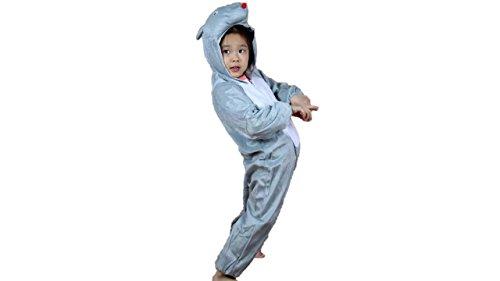 Niños Disfraces de Animales Niños Niñas Unisex Disfraces Cosplay Niños Onesie (Ratón, M (para niños de 90 a 105 cm de Altura))