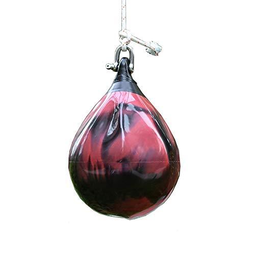 ZoSiP Wasser Schwere Boxen Geschwindigkeits Tasche HydroStrike Boxsack Kid Erwachsene Leder Wasser Boxsack for Das Boxtraining Hängender Schlagbeutel (Color : Red, Size : 26x37cm)