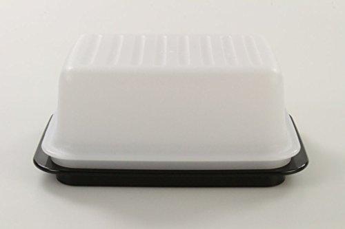 TUPPERWARE Butterdose weiß schwarz Butterschatz Kühlschrank 10054