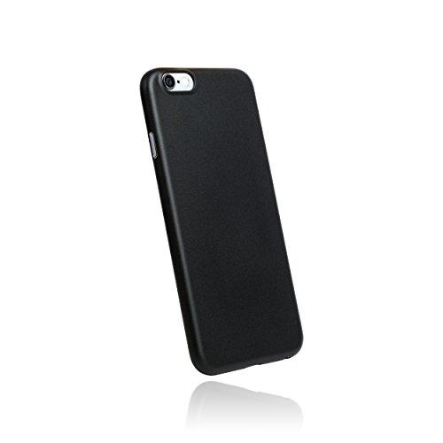 hardwrk Ultra-Slim Case - kompatibel mit Apple iPhone 6 und 6s - schwarz - ultradünne Schutzhülle Handyhülle Cover Hülle in solid Black