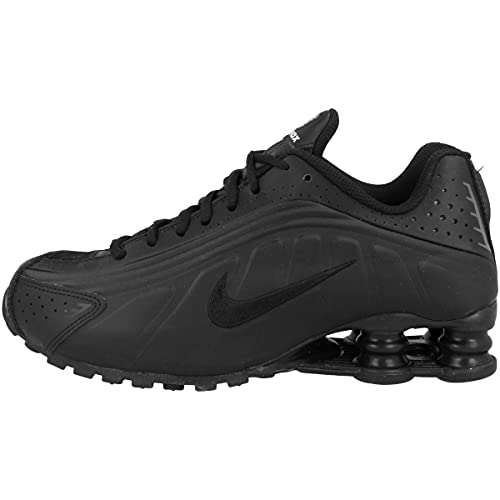 Nike Shox R4 (GS), Scarpe da Atletica Leggera Uomo, Nero (Black/Black/Black/White 000), 39 EU