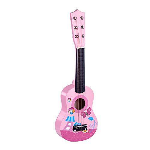 AMITAS 6 Saiten Kindergitarre Schöne Spielgitarre Süsse Erste Gitarre Klassische Gitarre Einstieg ab 3 Jahre
